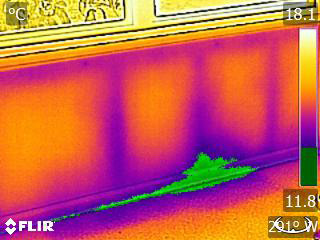 Infrared Image of Wall Leak (10)